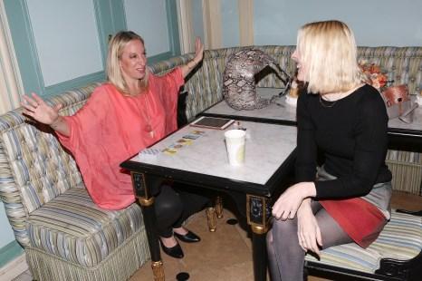 Ophira Edut, Ella McHugh==Ella McHugh and Ophira Edut of The AstroTwins Host SS17 Luncheon==Laduree Soho, NYC==November 01, 2016==©Patrick McMullan==Photo - Krista Kennell/PMC====