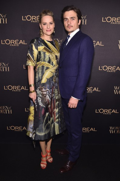 NEW YORK, NY - NOVEMBER 16: Aimee Mullins (L) and actor Rupert Friend attend the L'Oreal Paris Women of Worth Celebration 2016 Arrivals on November 16, 2016 in New York City. (Photo by Michael Loccisano/Getty Images for L'Oreal) *** Local Caption *** Aimee Mullins;Rupert Friend