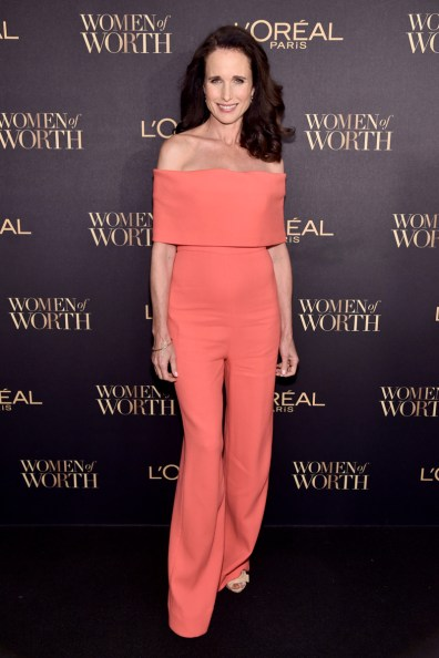 NEW YORK, NY - NOVEMBER 16: Actress Andie MacDowell attends the L'Oreal Paris Women of Worth Celebration 2016 Arrivals on November 16, 2016 in New York City. (Photo by Michael Loccisano/Getty Images for L'Oreal) *** Local Caption *** Andie MacDowell