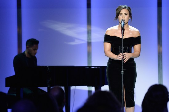 LOS ANGELES, CA - NOVEMBER 14: Recording artist Demi Lovato performs onstage during Glamour Women Of The Year 2016 at NeueHouse Hollywood on November 14, 2016 in Los Angeles, California. (Photo by Kevork Djansezian/Getty Images for Glamour) *** Local Caption *** Demi Lovato