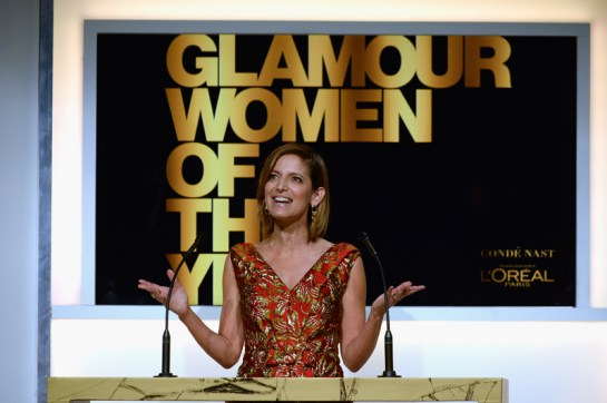 LOS ANGELES, CA - NOVEMBER 14: Glamour Editor-in-Chief Cindi Leive speaks onstage during Glamour Women Of The Year 2016 at NeueHouse Hollywood on November 14, 2016 in Los Angeles, California. (Photo by Kevork Djansezian/Getty Images for Glamour) *** Local Caption *** Cindi Leive