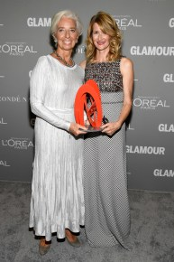 LOS ANGELES, CA - NOVEMBER 14: Honoree Christine Lagarde and actress Laura Dern and actress Laura Dern attend Glamour Women Of The Year 2016 at NeueHouse Hollywood on November 14, 2016 in Los Angeles, California. (Photo by Frazer Harrison/Getty Images for Glamour) *** Local Caption *** Christine Lagarde;Laura Dern