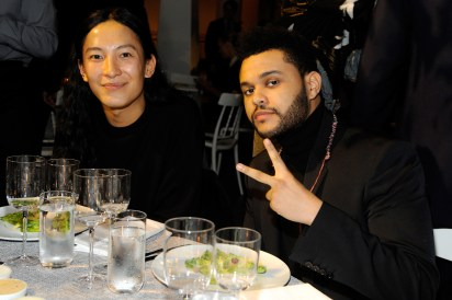 NEW YORK, NY - NOVEMBER 02: Designer Alexander Wang (L) and Musician The Weeknd attend the WSJ Magazine 2016 Innovator Awards at Museum of Modern Art on November 2, 2016 in New York City. (Photo by Rabbani and Solimene Photography/Getty Images for WSJ. Magazine Innovators Awards)