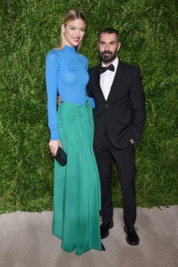 NEW YORK, NY - NOVEMBER 07: Martha Hunt and Tome designer Ramon Martin attend 13th Annual CFDA/Vogue Fashion Fund Awards at Spring Studios on November 7, 2016 in New York City. (Photo by Dimitrios Kambouris/Getty Images)