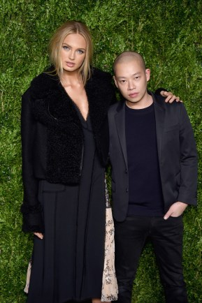 NEW YORK, NY - NOVEMBER 07: Model Romee Strijd (L) and designer Jason Wu attend 13th Annual CFDA/Vogue Fashion Fund Awards at Spring Studios on November 7, 2016 in New York City. (Photo by Dimitrios Kambouris/Getty Images)