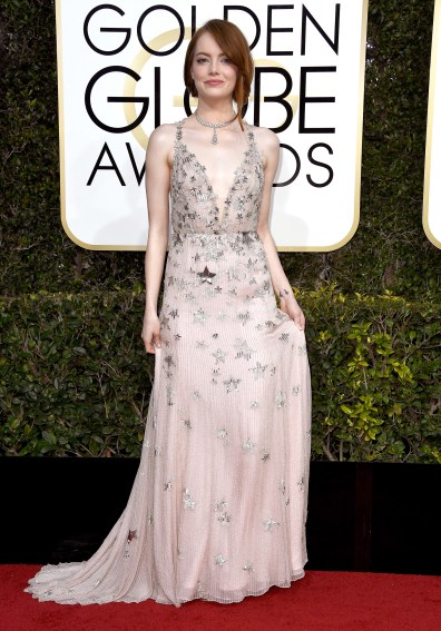 BEVERLY HILLS, CA - JANUARY 08: Actress Emma Stone attends the 74th Annual Golden Globe Awards at The Beverly Hilton Hotel on January 8, 2017 in Beverly Hills, California. (Photo by Frazer Harrison/Getty Images)