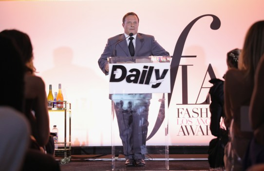 WEST HOLLYWOOD, CA - APRIL 02: SVP and Managing Director of IMG Models Ivan Bart speaks onstage during the Daily Front Row's 3rd Annual Fashion Los Angeles Awards at Sunset Tower Hotel on April 2, 2017 in West Hollywood, California. (Photo by Neilson Barnard/Getty Images)