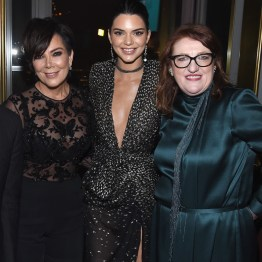 NEW YORK, NY - APRIL 19: Kris Jenner, Kendall Jenner, and Glenda Bailey attend Harper's BAZAAR 150th Anniversary Event presented with Tiffany & Co at The Rainbow Room on April 19, 2017 in New York City. (Photo by Dimitrios Kambouris/Getty Images for Harper's BAZAAR)