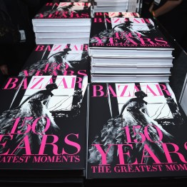 NEW YORK, NY - APRIL 19: A view of Harper's BAZAAR 150 Years book during Harper's BAZAAR 150th Anniversary Event presented with Tiffany & Co at The Rainbow Room on April 19, 2017 in New York City. (Photo by Dimitrios Kambouris/Getty Images for Harper's BAZAAR)