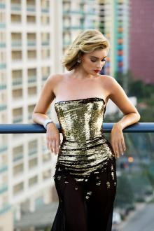 Alexandre Vauthier dress; Bulgari Diva's Dream earrings and Serpenti bracelet