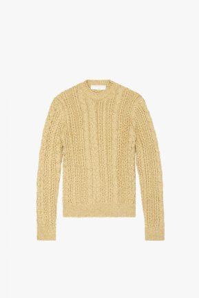 Knit Jumper in Gold Lurex, $1165 Victoria Beckham