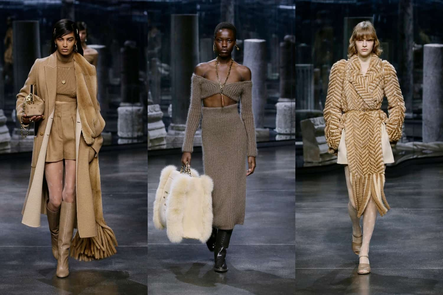 Kim Jones debuted on RTW at Fendi with a chamber to her predecessors