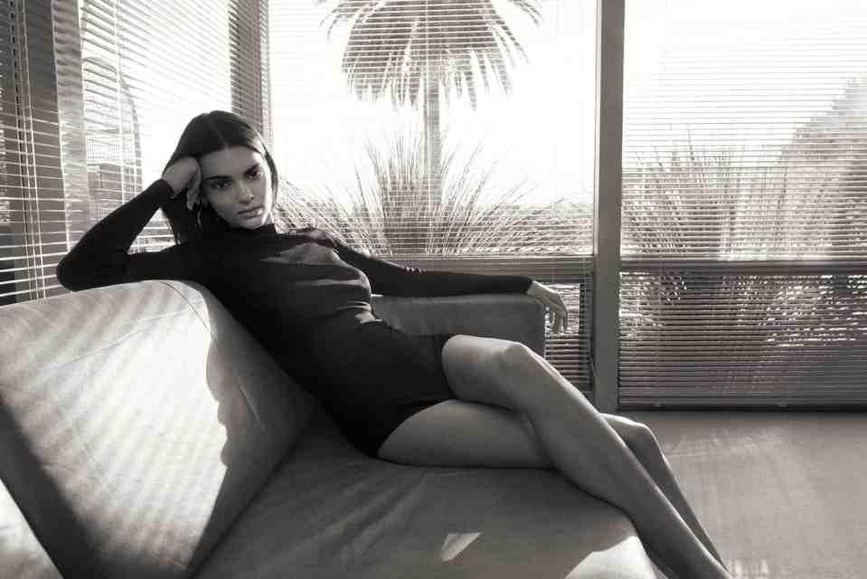 Kendall Jenner elegantly wears a transparent black blouse and silk tube skirt 4
