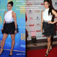 Kim Kardashian vs Jacqueline Fernandez: Two Divas, Two Continents, One Givenchy Feathered Dress