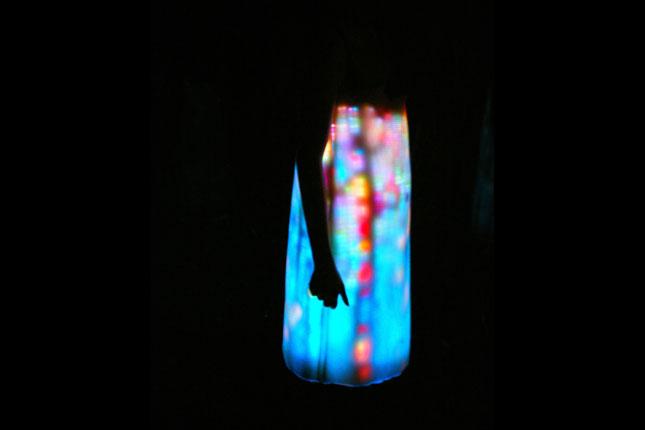 LED pixelated dresses