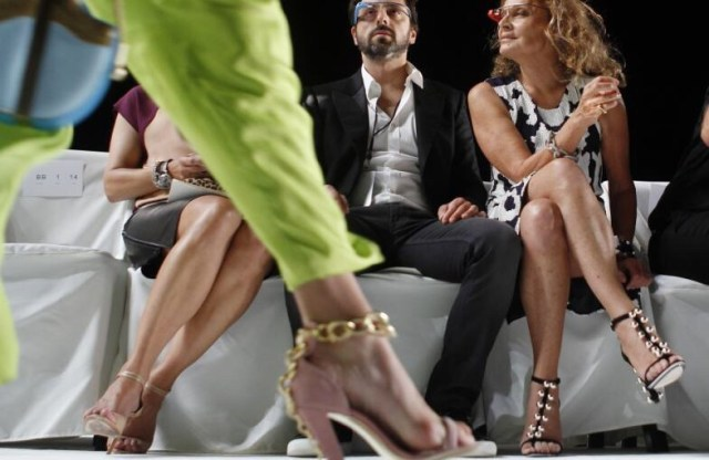 Google Glass Founder Sergey Brin and Fashion Designer Diane von Furstenberg
