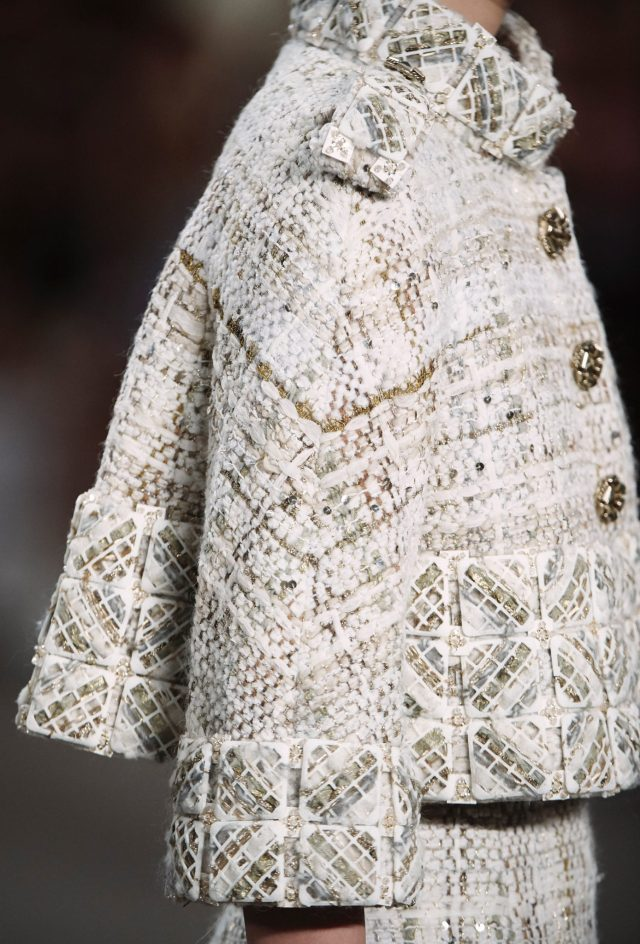Elements of a Chanel Haute Couture creation produced using 3D printing techniques.