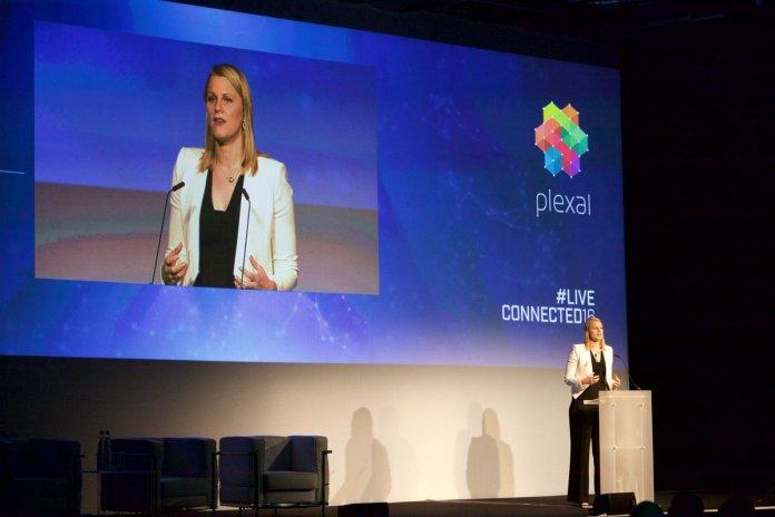 Claire Cockerton talking at Plexal