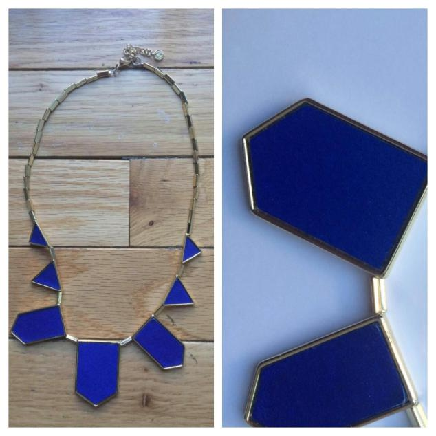 House of Harlow 1960, Five Station Necklace, Cobalt