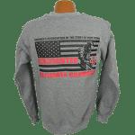"""Red Line Series"" – Full Flag Crewneck Sweatshirt"