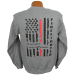 """Red Line Series"" Distressed Flag Sweatshirt"