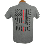 """Red Line Series"" – Distressed Flag Tee Shirt"