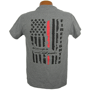 """""""Red Line Series"""" – Distressed Flag Tee Shirt"""