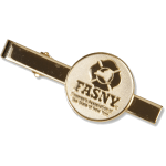 Jewelry – Gold Plated Tie Bar with Gold Logo