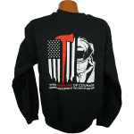 """Red Line Series"" –  Hooded Sweatshirt with Fireman"