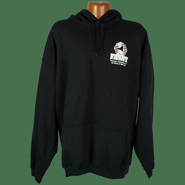 """Red Line Series"" –  Hooded Sweatshirt with Fireman"