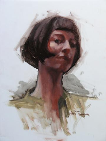 """portrait of Felicia Forte by Robert Paulmenn Oil ~ 14"""" x 11"""""""