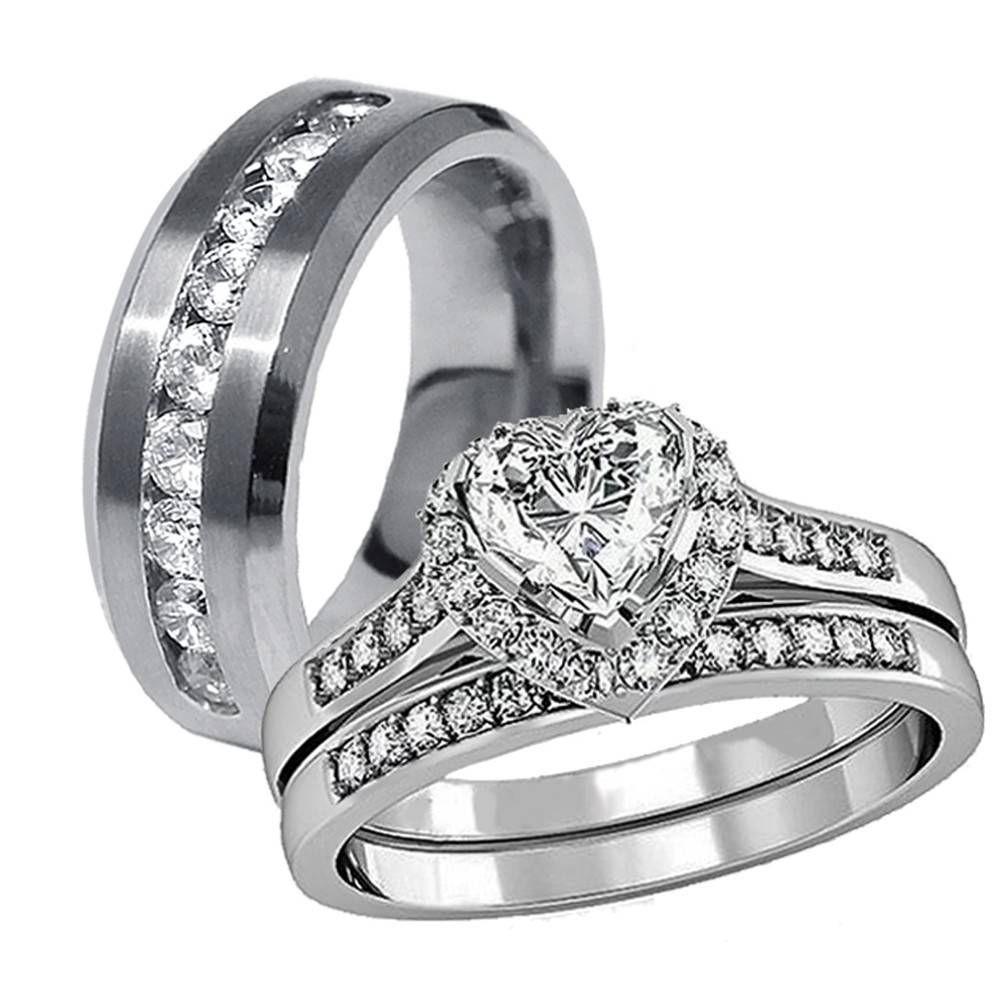 2019 Popular Black And Silver Mens Wedding Bands