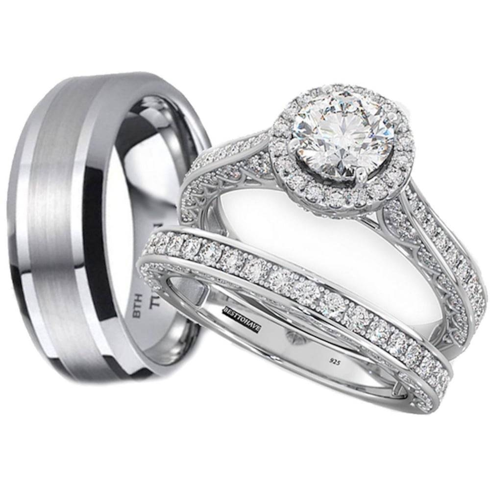 2018 Latest Tungsten Wedding Bands Sets His And Hers