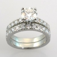 2018 Latest Platinum Engagement And Wedding Rings Sets