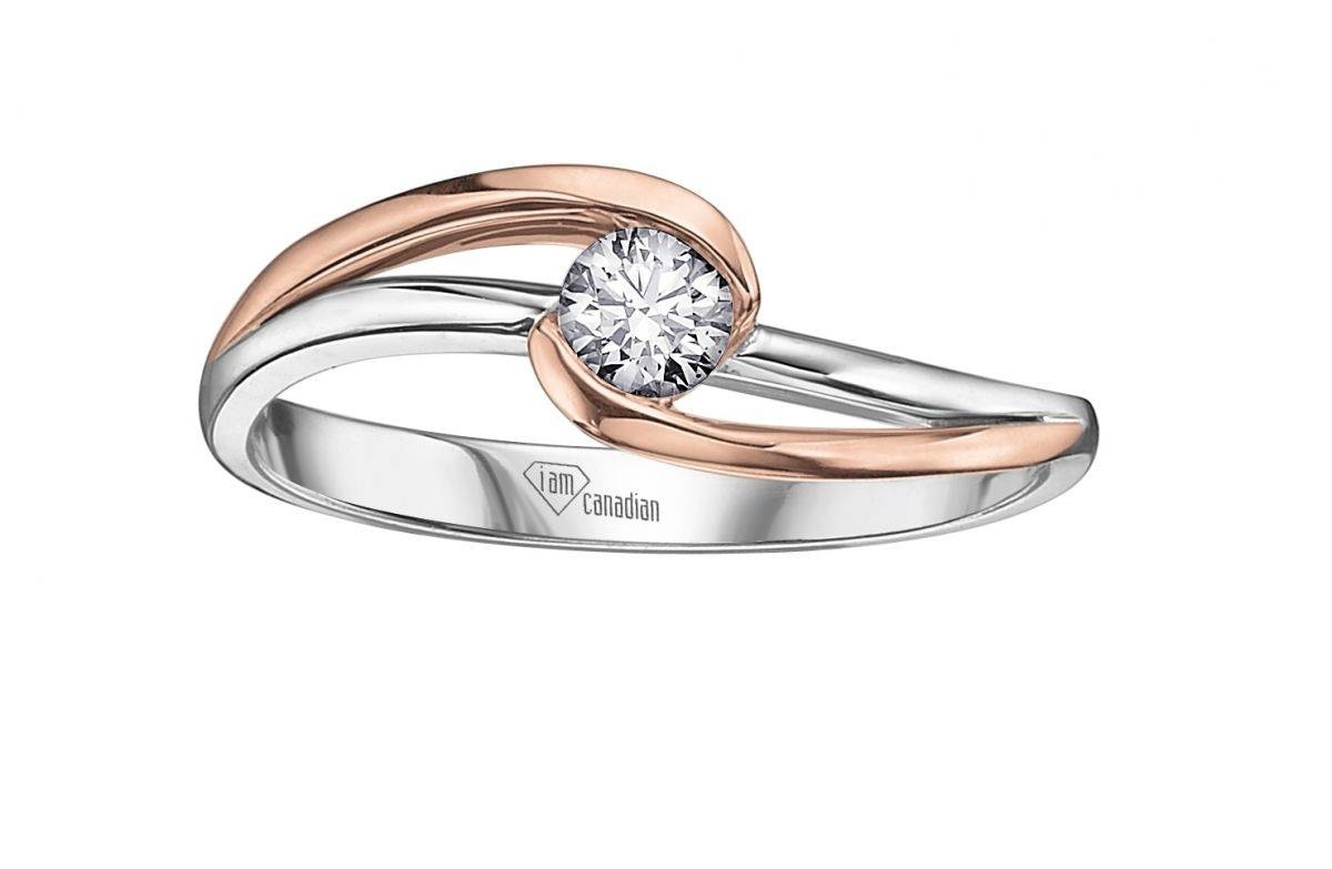 15 Ideas of Rose And White Gold Wedding Rings