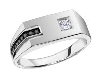 2018 Popular White Gold Male Wedding Rings