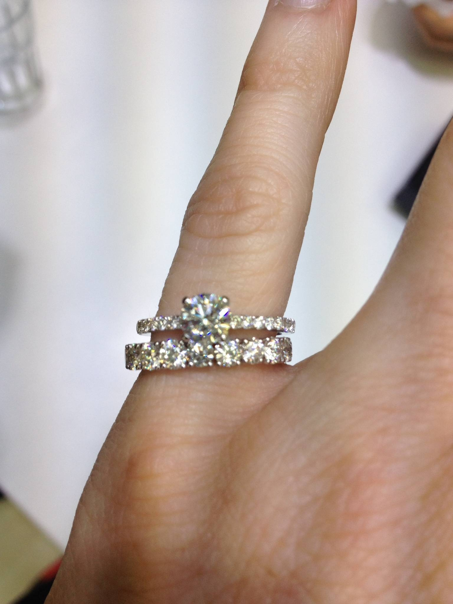 15 Collection of Thin Wedding Bands With Diamonds