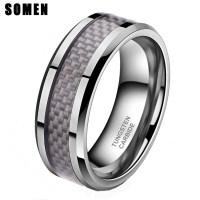 2018 Latest Mens Carbon Fiber Wedding Rings