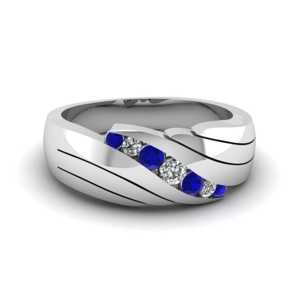 15 Best Collection Of Mens Blue Sapphire Wedding Bands