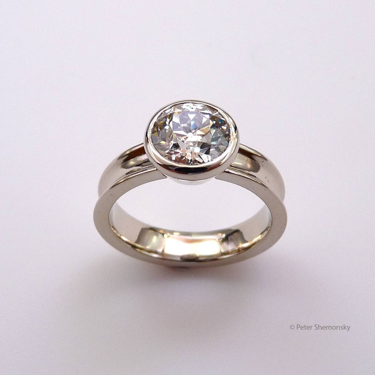 15 Ideas of Flat Engagement Ring Settings