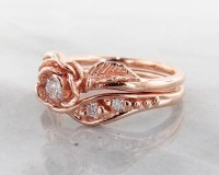 2018 Popular Rose Gold Wedding Bands Sets