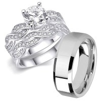 15 Best of Infinity Wedding Bands Sets