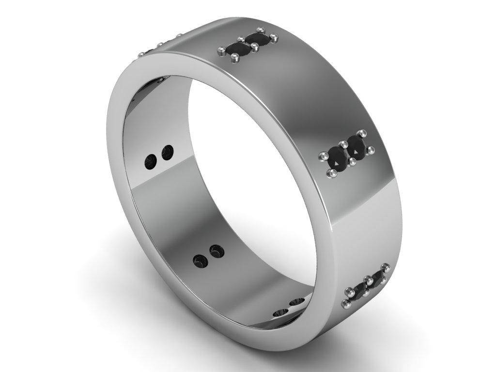 15 Collection Of Mens Titanium Wedding Bands With Diamonds