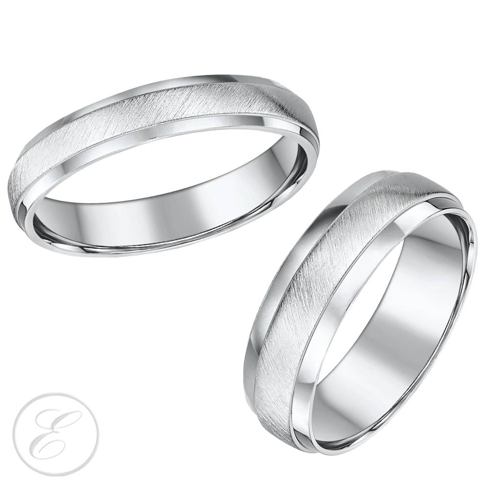 15 Best of Titanium Wedding Bands Sets His Hers