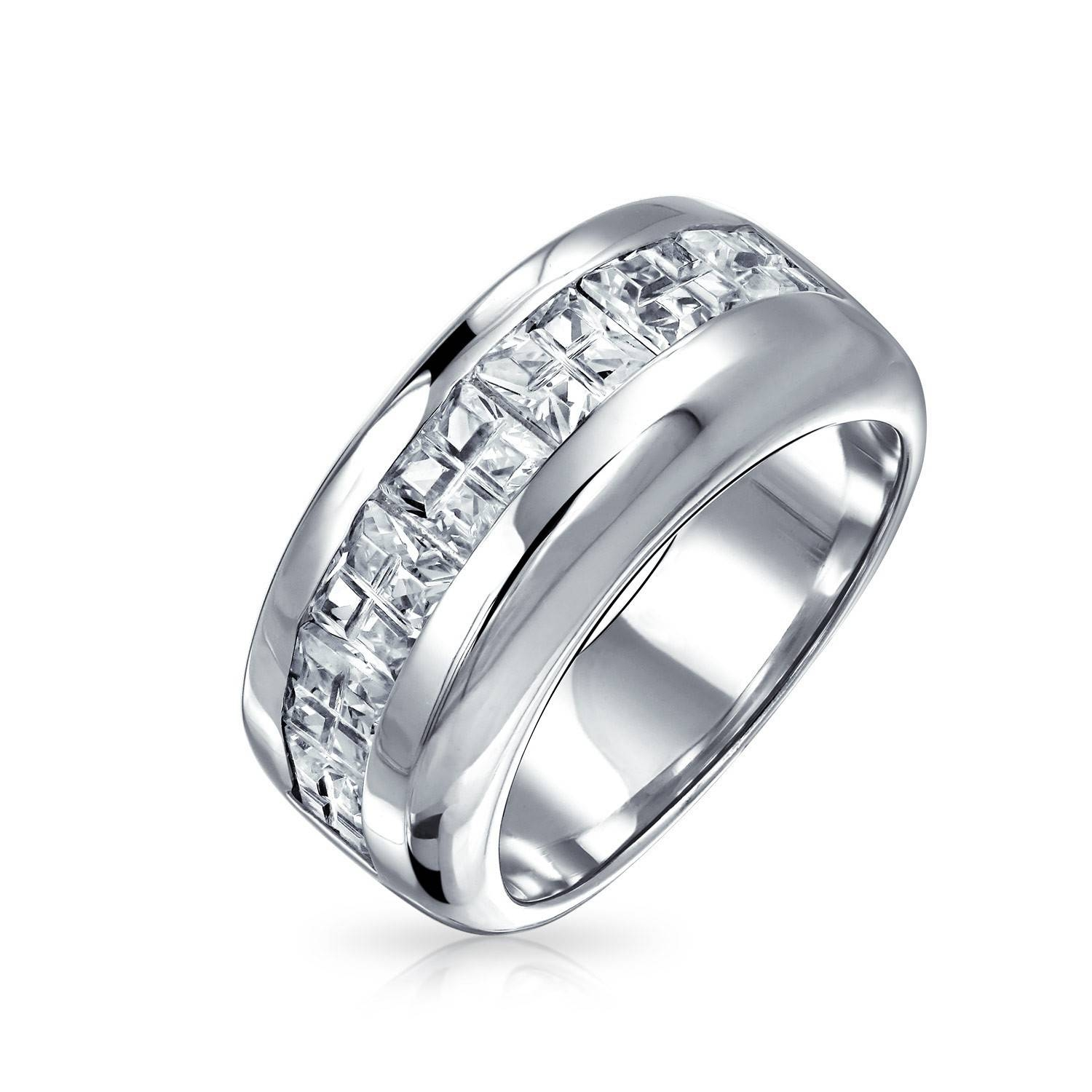 Sterling Silver Mens Wedding Rings