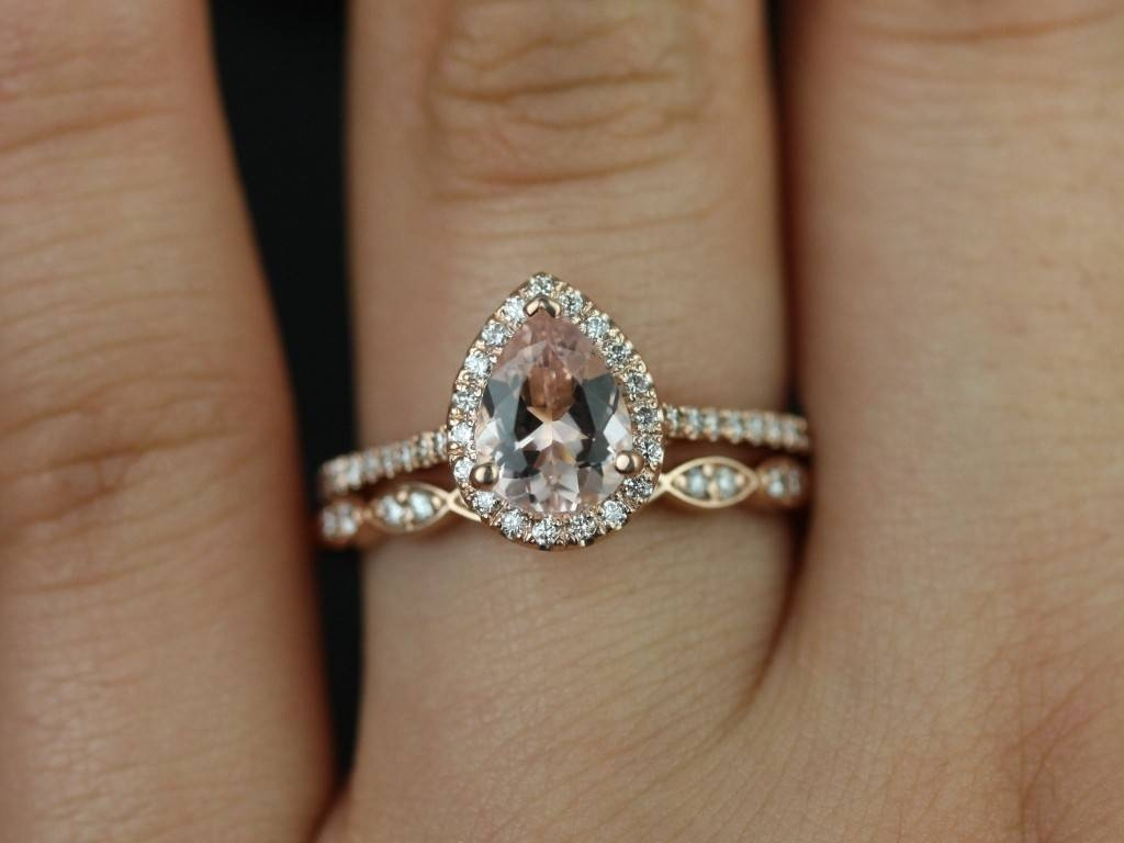 2018 Latest Pear Shaped Engagement Rings And Wedding Band