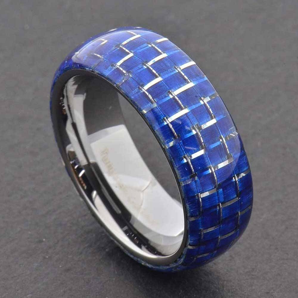 15 Best Ideas Of Mens Black And Blue Wedding Bands