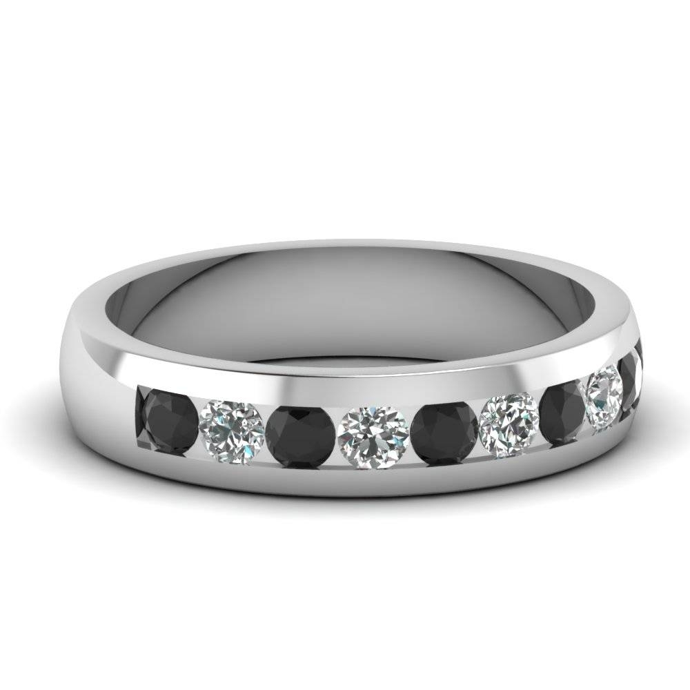 15 Collection Of Black Diamond Wedding Bands For Him