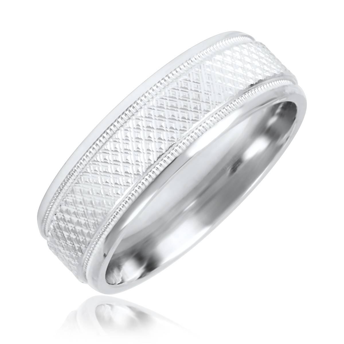 2019 Popular White Gold Male Wedding Rings
