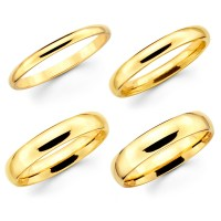 2018 Latest 14 Karat Gold Wedding Bands